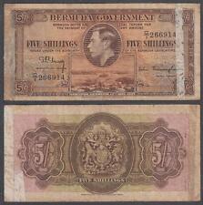 1937 Bermuda Government George VI 5 Shillings