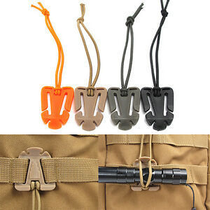 Elastic-String-Clip-Molle-Attaching-Clamp-Retaining-Clip-Money-Clip-On-Buckle-Ou
