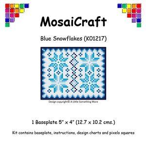 MosaiCraft-Pixel-Craft-Mosaic-Art-Kit-039-Blue-Snowflakes-039-Pixelhobby