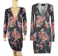 D&G DOLCE & GABBANA SWEATER DRESS ROSE GARDEN PRINT 100% WOOL CARDIGAN sz 40