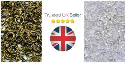 Mixed Size Split Rings 4mm 10mm Findings Craft Silver Gold Plated Antique ML