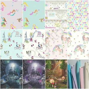Image Is Loading ARTHOUSE GIRLS IMAGINE FUN Amp GLITTER WALLPAPER MERMAID