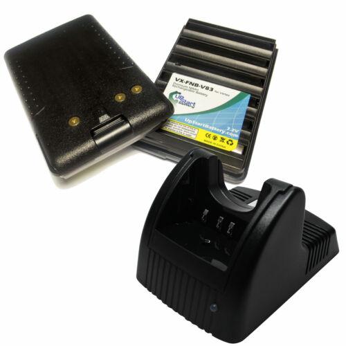 2x Battery Charger for Standard Horizon HX370S HX270S HX600S HX500S FNB-83