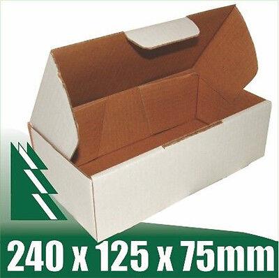20 x White Cardboard Boxes Box for 500g Australia Post Satchels 240x125x75mm