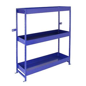 Estanteria-para-Furgoneta-Acero-Inoxidable-Lighting-Azul-3-Estantes-con-Soporte