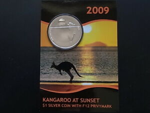 Australia-2009-1oz-Silver-Kangaroo-at-Sunset-With-F12-Privy-UNC-BU