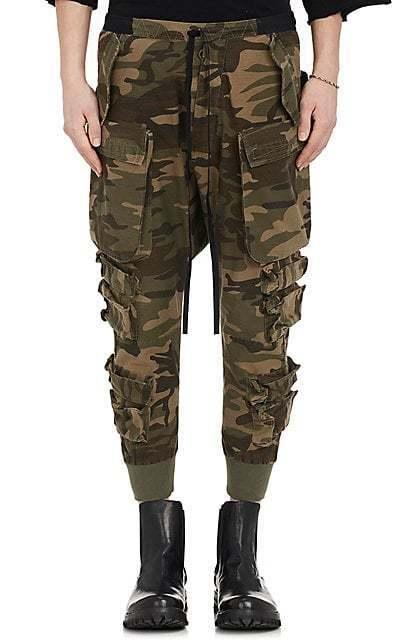 BEN TAVERNITI UNRAVEL PROJECT Camouflage Cotton-Blend Cargo Pants SZ L - NWOT