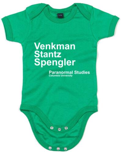 Venkman Stantz Spengler Ghostbusters inspired Kid/'s Printed Baby Grow
