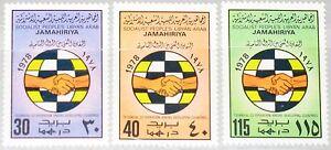 LIBYEN LIBYA 1978 669-71 756-58 Technical Cooperation Developing Countries MNH