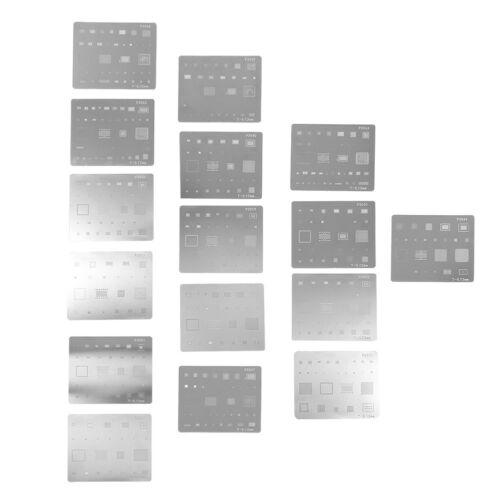 16pcs IC Chip BGA Reballing Stencil Kits Set Solder Template for iPhone 6/7/8/X