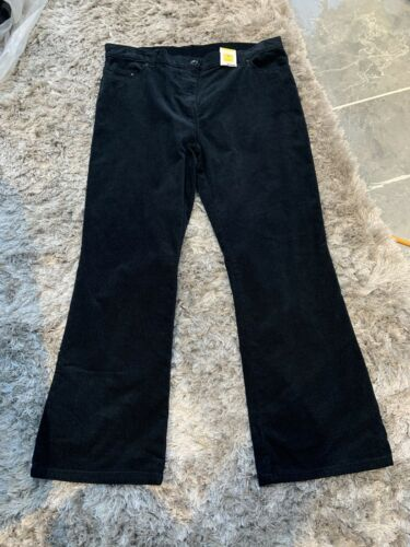 M/&s Dark Teal Mid Rise Bootcut Cords Trouser Size 16 S BNWT Free Sameday P/&p