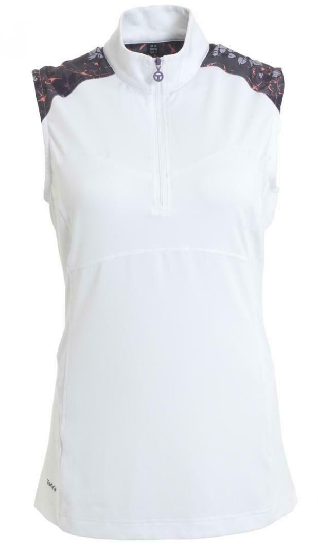 New  Ladies S S 19 Toggi Solari Sleeveless Technical Shirt - White -   16