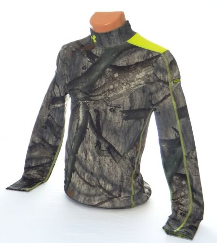 Under Armour Coldgear Infrared Scent Control Mossy Oak Compression Shirt Men/'s S