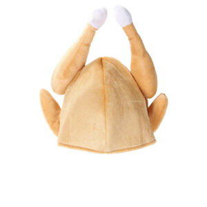 3988b7208bd Image is loading Roasted-Turkey-Christmas-Thanksgiving-Funny-Men-Costume-Hat -