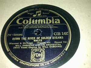 WILL OSBOURNE AND HIS ORCHESTRA DOWN THE RIVER OF GOLDEN DREAMS COLUMBIA CB165 - <span itemprop=availableAtOrFrom>worcester, Worcestershire, United Kingdom</span> - Returns accepted Most purchases from business sellers are protected by the Consumer Contract Regulations 2013 which give you the right to cancel the purchase within 14 d - worcester, Worcestershire, United Kingdom