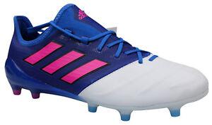 reputable site cb799 25d88 Das Bild wird geladen Adidas-ACE-17-1-FG-Fussballschuhe-Leder-Nocken-