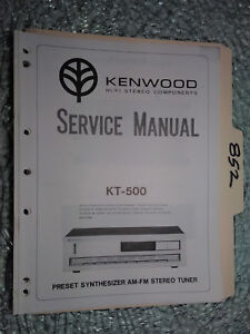 kenwood kt 500 service manual original repair book stereo tuner rh ebay com kenwood hifi user manuals kenwood micro hifi manual