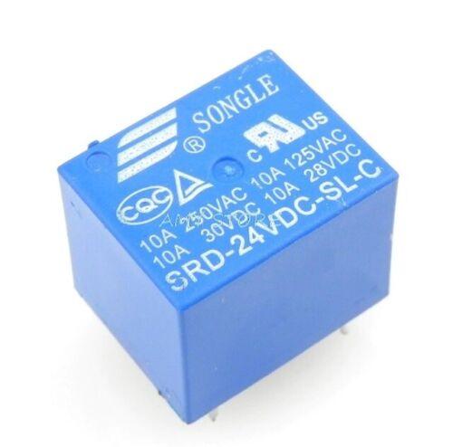 2 5 or 10 Free Postage 24V // 48V Mini PCB Relay SPDT 5 Pin Packs of 1
