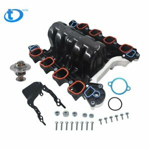 New Intake Manifold w//Thermostat /& Gaskets Kit For Ford Lincoln Mercury 4.6L V8