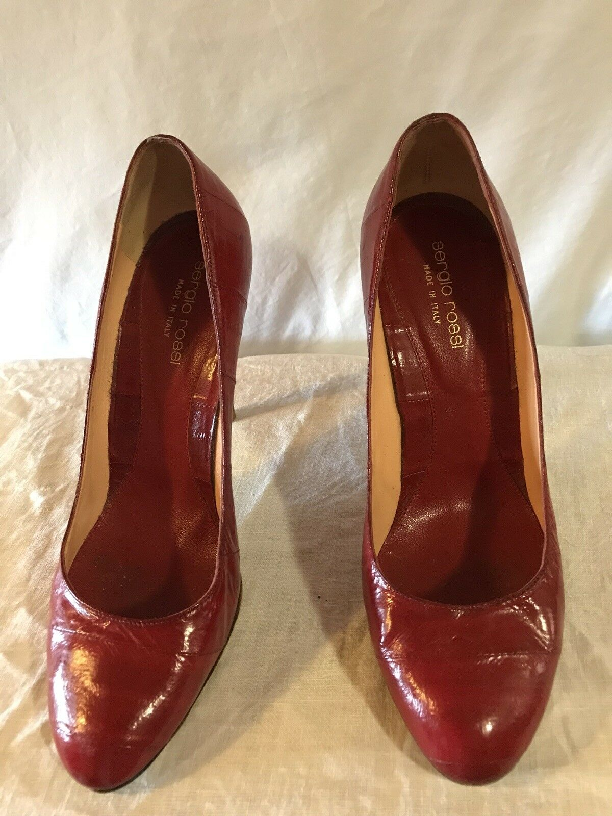Vintage Sergio Rossi Women's shoes Heels Pumps Size 37.5 Made in