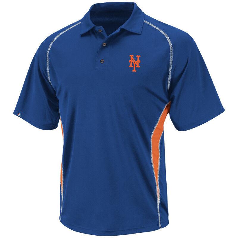 MLB Baseball Poloshirt Shirt NEW YORK NY METS Athletic Advantage Blau