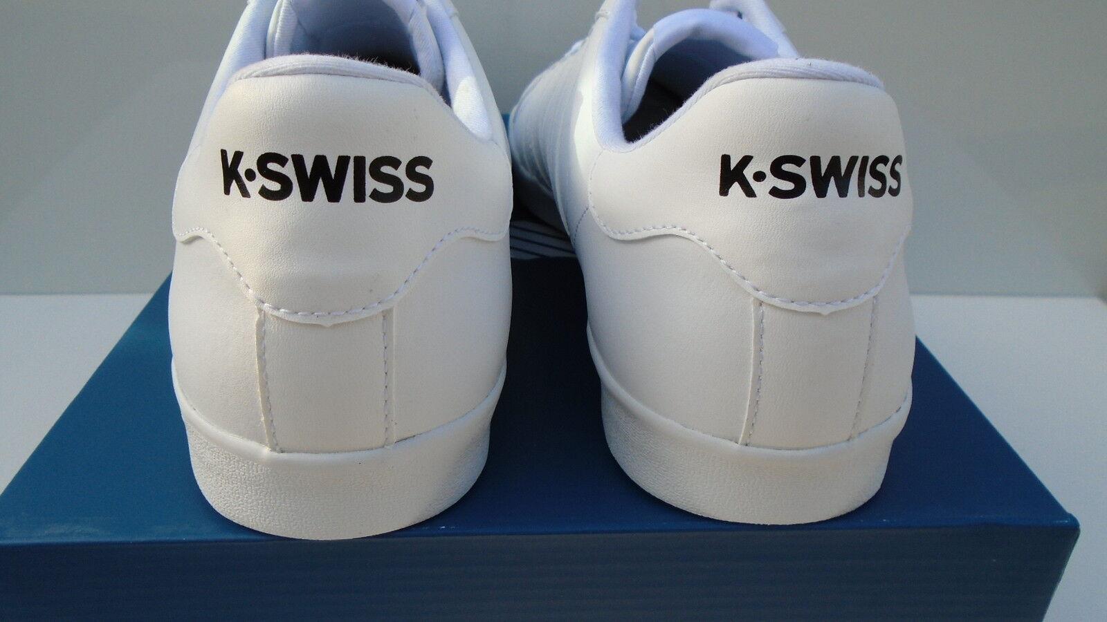 K-Swiss zapatos caballero blanco médico belmont cuero belmont médico cortos calzado deportivo 39 - 49 nuevo 8eba40