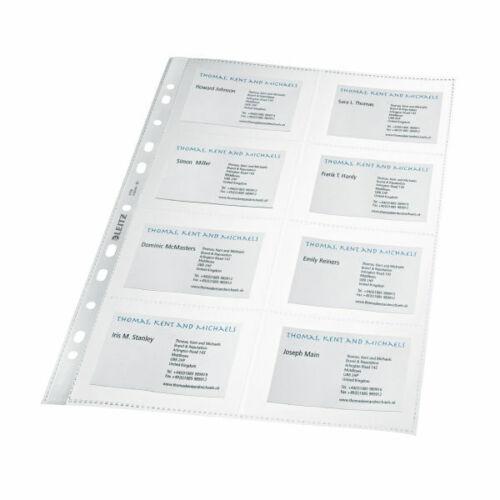 10 x Leitz 4758 Prospekthüllen Visitenkarten A4 PP Visitenkartenhüllen farblos