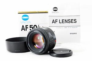 Excellent-Minolta-AF-50mm-F1-4-New-for-Sony-A-mount-w-Hood-from-Japan-173311