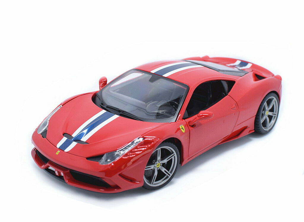 Bburago 1 18 Ferrari 458 Speciale Diecast Model Roadster Car New in Box Red