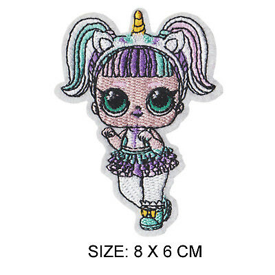 2c052cbce7d0 LOL DOLL UNICORN Full Embroidered Applique Iron Sew On Patch Badge ...