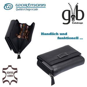 Damen-Boerse-Portemonnaie-Geldboerse-echtes-Leder-Multifunktional-3763001