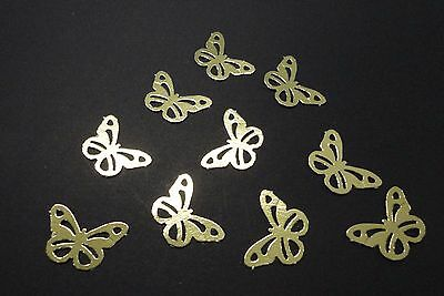 Gold Butterfly Punchies - Pkt 50