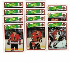1X CHICAGO BLACKHAWKS 1988 89 opc FULL TEAM SET O Pee Chee NMMT Lots Available