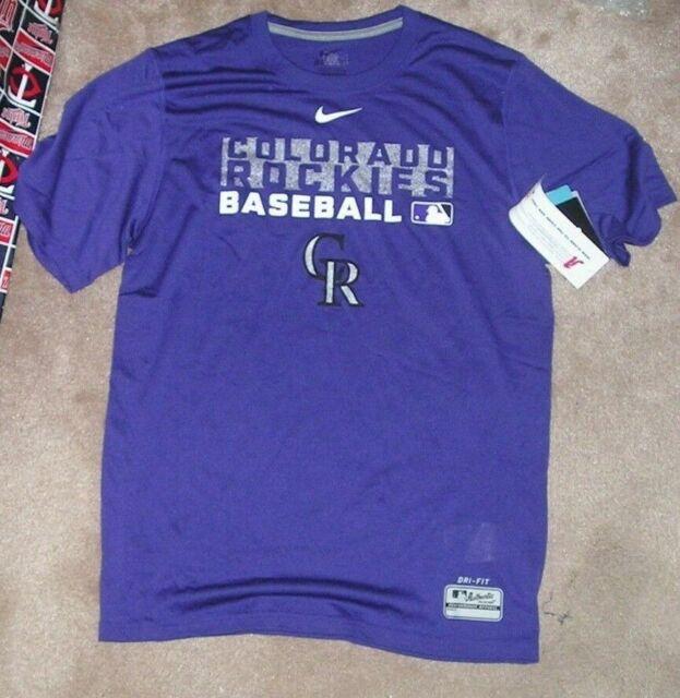 arrives ca1a9 d3fbe MLB Colorado Rockies Baseball T Shirt Men S Small Nike Dri Fit