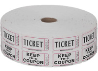 Roll Of 2000 Double Raffle Drawing Tickets Parties School Office Supplies