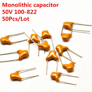 50Pcs  50V 1uF 105 Monolithic Ceramic Chip Capacitor New