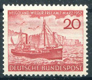 Bund-Nr-152-sauber-postfrisch-Rueckgabe-der-Insel-Helgoland-1952-BRD-MNH