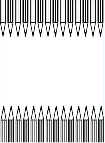 RETIRED   Darice 4.25 x 5.75 Inch Darice Embossing Folder Pencil Border B9