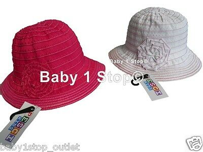 Baby Girls Cotton Floral Sun / Summer Hat / Cap Ages 0-3 3-6 6-12 12-24 Months
