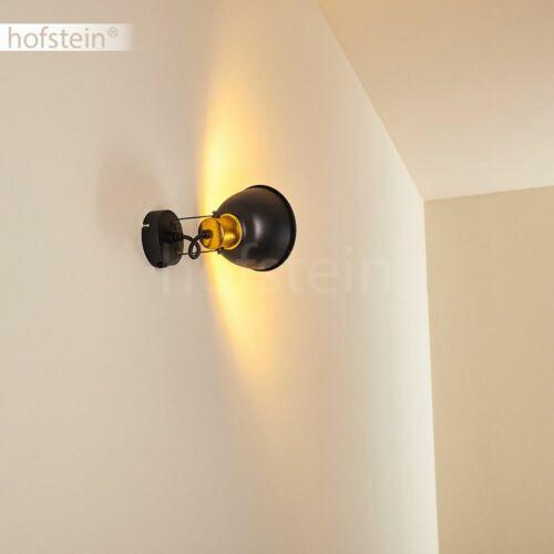 Retro Schlaf Wohn Zimmer Leuchte schwarz-gold Flur Strahler Wand Lampe Schalter