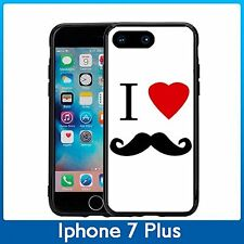 I Heart Love Mustache For Iphone 7 Plus (5.5) Case Cover By Atomic Market