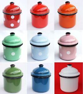 Bote-retencion-501z-Caja-15cm-Esmaltado-Vintage-Rustico-mehlbuchse-Esmalte