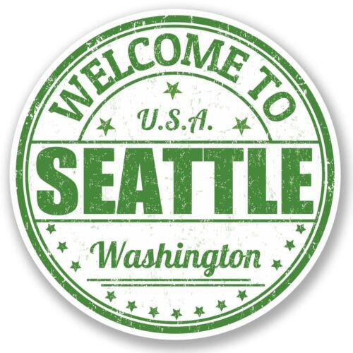 2 x Seattle Washington USA Vinyl Sticker Laptop Travel Luggage Car #5218