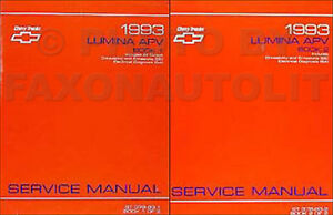 1993 chevy lumina car repair shop manual original 2 volume set.
