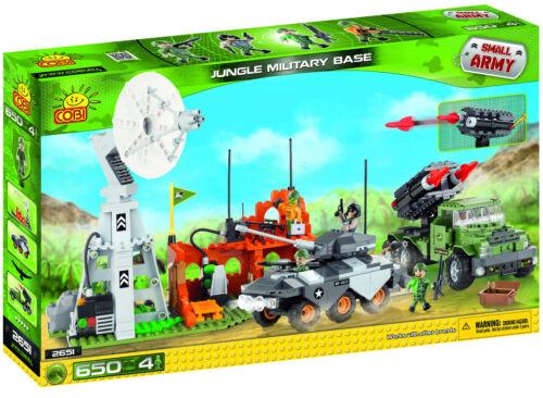 Cobi 640 Construction Bricks Set Jungle Military Base or Naval Base Brand New