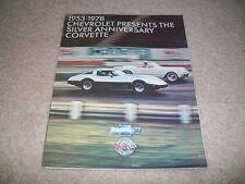 Chevrolet Corvette Silver Anniversary Brochure 1978 - Rare & Original