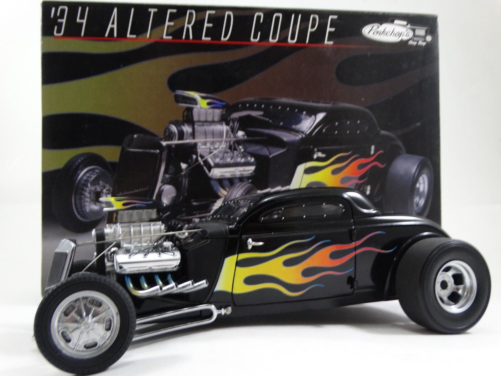 GMP Pork Chop's 1934 Ford Altered Coupe Hot Rod 1 1 1 18 Scale Diecast 34 Model Car 7f81b7