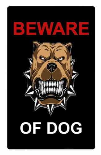 Details about  /Beware Of Dog Security Metal Aluminium Sign Plaque For Gate House Door 5 Sizes