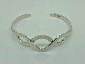 Gorgeous-Vintage-Sterling-Silver-Celtic-Twist-Bangle-Cuff-Bracelet