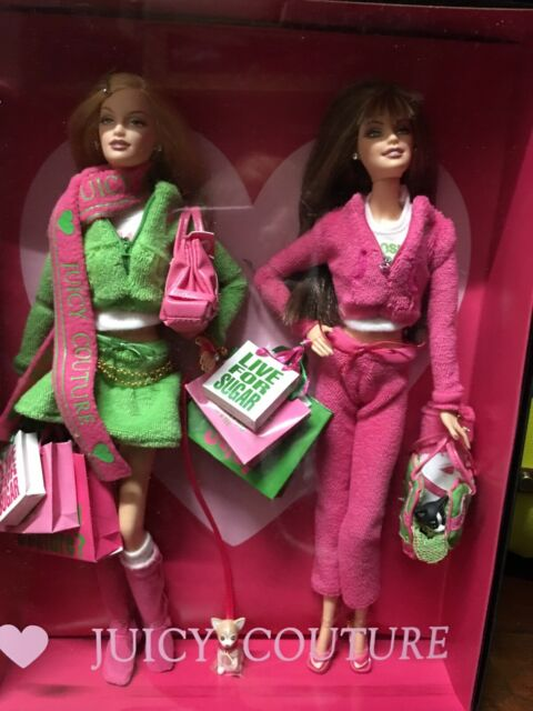 Juicy Couture Love P & G Barbie 2 Doll Set Gold Label  NRFB
